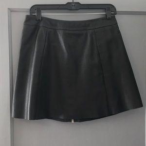 All Saints Sens Leather Skirt